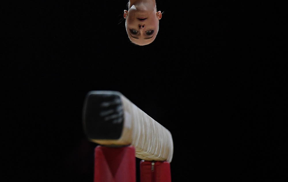 Sanne Wevers of The Netherlands competes on the Beam in the qualification for the Women's Apparatus Finals of the Glasgow 2018 European Artistic Gymnastics Championships, Glasgow, Britain, 02 August 2018.