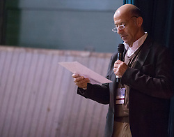 """Hilberath Jonny (GER)<br /> """"The German system""""<br /> Global Dressage Forum - Academy Bartels <br /> Hooge Mierde 2012<br /> © Dirk Caremans"""