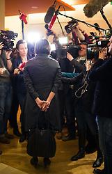 25.02.2015, Palais Niederösterreich, Wien, AUT, Außerordentliche Konferenz der Landeshauptleute mit Themenschwerpunkt Asyl, im Bild Bundesministerin für Inneres Johanna Mikl-Leitner (ÖVP) // Minister of the Interior Johanna Mikl-Leitner (OeVP) during governors conference of the austrian provinces at palais niederoesterreich in vienna on 2015/02/25, EXPA Pictures © 2015, PhotoCredit: EXPA/ Michael Gruber