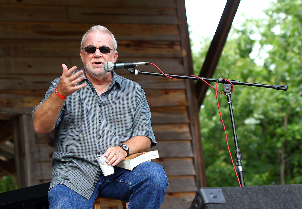 Jim Wallis participates in a discussion at the Wild Goose Festival at Shakori Hills in North Carolina June 23, 2011.  (Photo by Courtney Perry)
