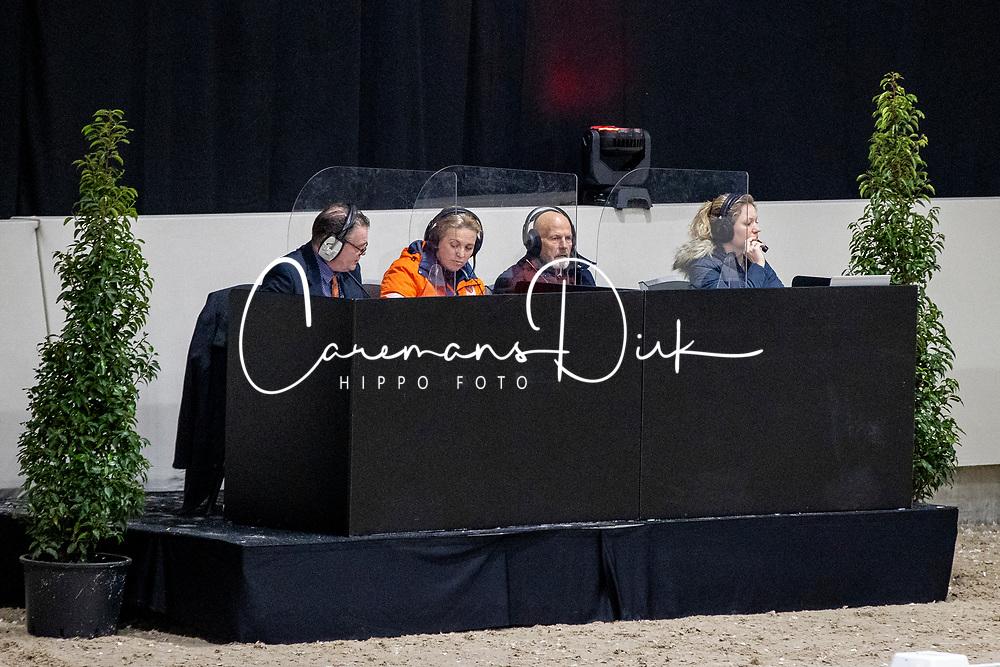 Jury Dressuurhengsten geboren in 2016, Van Rooijen-Heuitink Joyce, Hoefs Toine, Rockx Johan<br /> KWPN Hengstenkeuring 2021<br /> © Hippo Foto - Dirk Caremans<br />  06/02/2021