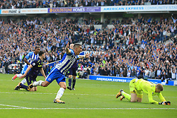 15 October 2017 -  Premier League - Brighton and Hove Albion v Everton - Anthony Knockaert of Brighton and Hove Albion celebrates scoring his goal - Photo: Marc Atkins/Offside