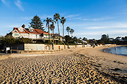 Sydney, Australia. Thursday 6th August 2020. Luxury houses overlooking Camp Cove beach.