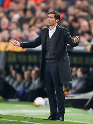 Valencia manager Marcelino Garcia Toral gestures from the touchline