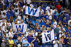 September 19, 2017 - St. Petersburg, Florida, U.S. - WILL VRAGOVIC   |   Times.''W'' flags fly in the stands after the game between the Chicago Cubs and the Tampa Bay Rays at Tropicana Field in St. Petersburg, Fla. on Tuesday, Sept. 19, 2017. The Chicago Cubs beat the Tampa Bay Rays 2-1. (Credit Image: © Will Vragovic/Tampa Bay Times via ZUMA Wire)