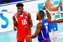 Miguel Angel Lopez Castro of Cuba celebrates during volleyball match between Cuba and Slovenia in Final of FIVB Volleyball Challenger Cup Men, on July 7, 2019 in Arena Stozice, Ljubljana, Slovenia. Photo by Matic Klansek Velej / Sportida
