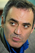 Yoshkar-Olinskii, Russia, 24/04/2005..Garry Kasparov at a meeting of members of his new political movement in the city planetarium as he tours the Kazan area in central Russia. Kasparov, World Chess Champion for the last twenty years, recently retired from the professional game to devote his time to Russian politics, and is currently touring the country and founding a new political movement in opposition to President Valdimir Putin.