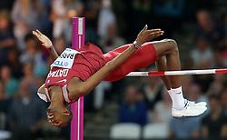 Mutaz Essa MARSHIM of Qatar, winner of the men´s high jump during day ten of the 2017 IAAF World Championships at the London Stadium, UK, Sunday August 13, 2017. Photo by Giuliano Bevilacqua/ABACAPRESS.COM
