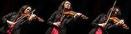 Montaggio di ritratti di Michi Fuji, violinista.      Montage of portraits of Michi Fuji, violinist