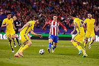 Atletico de Madrid's player Fernando Torres and CF Rostov's player Timofei Kalachev and César Navas during a match of UEFA Champions League at Vicente Calderon Stadium in Madrid. November 01, Spain. 2016. (ALTERPHOTOS/BorjaB.Hojas)