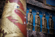 Some Buddha statues are seen in a Buddhist temple in the Bamboo Sea National Park (Chinese:南山竹海) in Yibin, China, August 07, 2014.<br /> <br /> Confucianism, Taoism and Buddhism are the three major religions in China. Temples and statues witness their ancient roots all over the Chinese country.<br /> <br /> © Giorgio Perottino