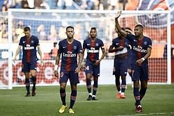 August 25, 2018 - Paris, France - Kylian Mbappe, Neymar during the French L1 football match Paris Saint-Germain (PSG) vs Angers (SCO), on August 25, 2018 at the Parc des Princes in Paris. (Credit Image: © Mehdi Taamallah/NurPhoto via ZUMA Press)