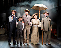 Ragtime <br /> Book by Terrence Mcnally <br /> Music by Stephen Flaherty <br /> Lyrics by Lynn Ahrens<br /> at Charing Cross Theatre <br /> Press photocall<br /> 14th October 2016<br /> directed by Thom Sutherland <br /> <br /> <br /> Jonathan Stewart as Younger Brother <br /> Samuel Peterson as Little Boy <br /> Earl Carpenter as Father <br /> Anita Louise Combe <br /> as Mother <br /> Anthony Cable as Grandfather <br /> <br /> <br /> Photograph by Elliott Franks <br /> Image licensed to Elliott Franks Photography Services