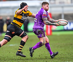 Ebbw Vale's Ronny Kynes in action - Mandatory by-line: Craig Thomas/Replay images - 04/02/2018 - RUGBY - Rodney Parade - Newport, Wales - Newport v Ebbw Vale - Principality Premiership