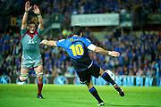 Richie McCaw places pressure on a David Hill kick. Western Force v Crusaders. Super 14 Rugby Match. Perth, Western Australia. Friday 23 April 2010. Photo: Daniel Carson|PHOTOSPORT