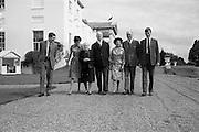 22/08/1963<br /> 08/22/1963<br /> 22 August 1963<br /> Mr Frank Aiken and family with President de Valera at Áras an Uachtaráin. Image shows:Frank Aiken Jr.; Aedamar Aiken; Sile de Valera; President Eamon de Valera; Maud Aiken; Frank Aiken and Lochlann Aiken, DFA,