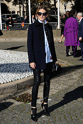 Olivia Palermo attending the Miu Miu show as a part of Paris Fashion Week Ready to Wear Spring/Summer 2017 in Paris, France on October 05, 2016. Photo by Aurore Marechal/ABACAPRESS.COM