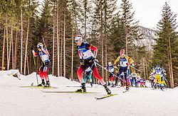 23.02.2020, Suedtirol Arena, Antholz, ITA, IBU Weltmeisterschaften Biathlon, Herren, Massenstart, im Bild v.l. Johannes Dale (NOR), Tarjei Boe (NOR) // f.l. Johannes Dale of Norway and Tarjei Boe of Norway during men's mass start of IBU Biathlon World Championships 2020 at the Suedtirol Arena in Antholz, Italy on 2020/02/23. EXPA Pictures © 2020, PhotoCredit: EXPA/ Stefan Adelsberger