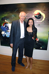 SIR TIM RICE and HSIAO-MEI LIN at a private view of her paintings held at the Adam gallery, 24 Cork Street, London on 28th April 2008.<br /><br />NON EXCLUSIVE - WORLD RIGHTS