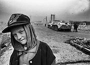 A young boy in the besieged city of Sarajevo. From 1992 to 1996 more than 12,000 people were killed during the siege, the longest in modern military history.