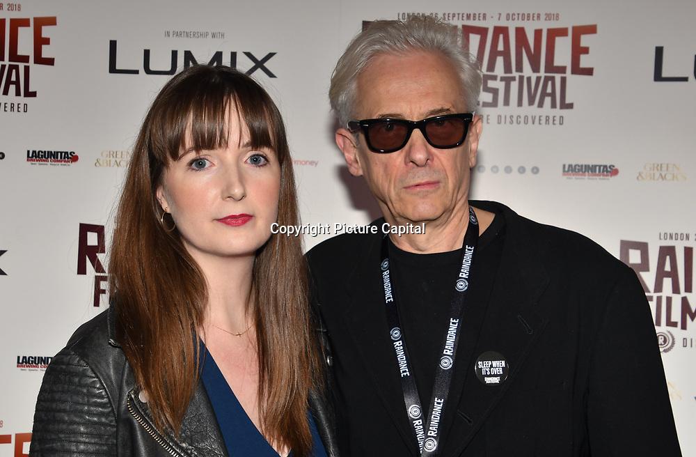 Elliot Grove and Director Brooke Colman of  Fire in Grenfell attend World Premiere of Team Khan - Raindance Film Festival 2018 at Vue Cinemas - Piccadilly, London, UK. 29 September 2018.