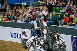 GÖTEBORG - Gothenburg Horse Show FEI World Cup 2009<br /> <br /> DE RONDE Koos<br /> FEI World Cup Viererzug Fahren Qualifikation<br /> <br /> Göteborg, Scandinavium<br /> 21. February 2009<br /> © www.sportfotos-lafrentz.de/Stefan Lafrentz
