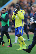 Romelu Lukaku of Everton looking dejected after the final whistle. Premier League match, Burnley v Everton at Turf Moor in Burnley , Lancs on Saturday 22nd October 2016.<br /> pic by Chris Stading, Andrew Orchard sports photography.