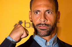 Rio Ferdinand speaks during the press conference at York Hall, London.