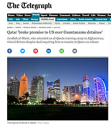 The Telegraph; skyline of Doha at night