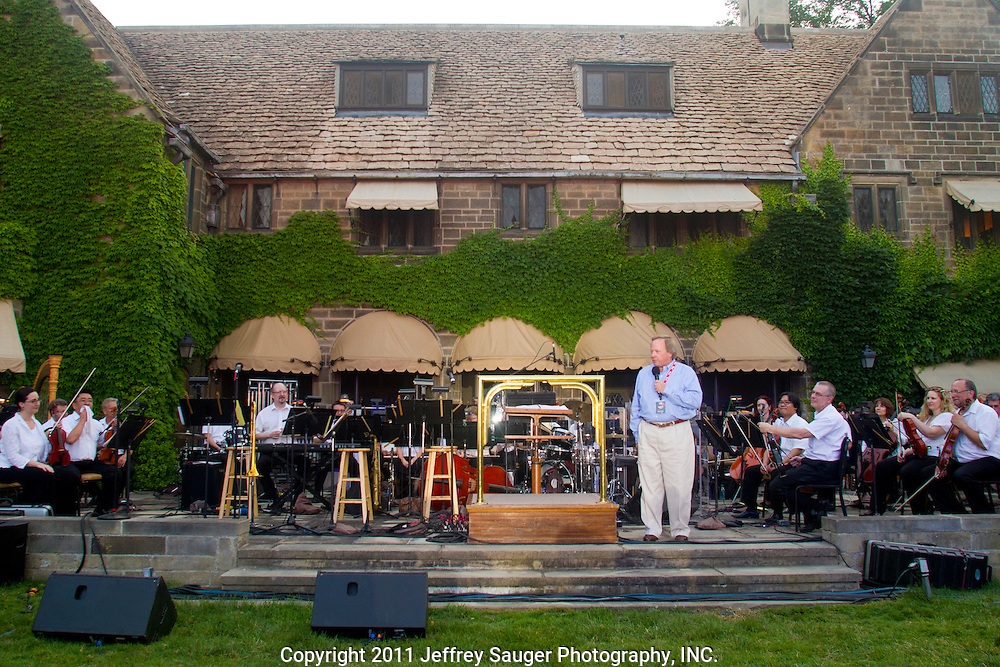 Led by conductor Tito Munoz, the Detroit Symphony Orchestra performed with trumpeter Marcus Belgrave and his band at the Edsel and Eleanor Ford House in Grosse Pointe Shores, MI, Friday, July 8, 2011.
