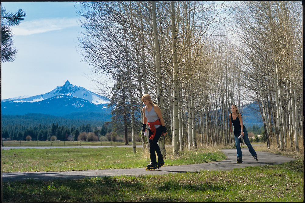 A view of the Three Sisters, from Black Butte Ranch resort in Central Oregon