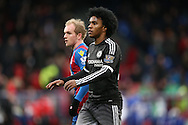 Willian of Chelsea looks on. Barclays Premier League match, Crystal Palace v Chelsea at Selhurst Park in London on Sunday 3rd Jan 2016. pic by John Patrick Fletcher, Andrew Orchard sports photography.