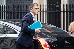 © Licensed to London News Pictures. 29/01/2019. London, UK. Chief Whip Julian Smith arrives in Downing Street. Later today British Prime Minister Theresa May will open a debate in the House of Commons on amendments to her plan for Brexit, which could shape future talks with the EU. Photo credit : Tom Nicholson/LNP