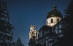 THEMENBILD - die Kollegienkirche bei Sonnenuntergang, aufgenommen am 19. September 2018 in Salzburg, Österreich // the Kollegienkirche (Collegiate Church) at sunset, Salzburg, Austria on 2018/09/19. EXPA Pictures © 2018, PhotoCredit: EXPA/ JFK