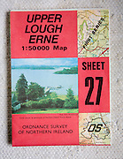 Discoverer series 1:50,000 ordnance survey map of Upper Lough Erne, Northern Ireland sheet 27