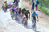 The peloton riders takes the first cobblestone section during the 105th Tour de France 2018, Stage 9, Arras Citadelle - Roubaix (156,5km) on July 15th, 2018 - Photo George Deswijzen / Proshots / ProSportsImages / DPPI