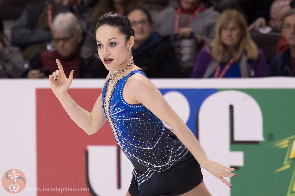 January 3, 2018; San Jose, CA, USA; Katie McBeath performs in the ladies short program during the 2018 U.S. Figure Skating Championships at SAP Center.