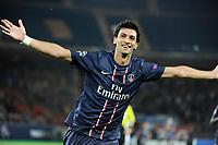 FOOTBALL - UEFA CHAMPIONS LEAGUE 2012/2013 - GROUP STAGE - GROUP A - PARIS SAINT GERMAIN v DYNAMO KIEV - 18/09/2012 - PHOTO JEAN MARIE HERVIO / REGAMEDIA / DPPI - JOY JAVIER PASTORE (PSG) AFTER HIS GOAL