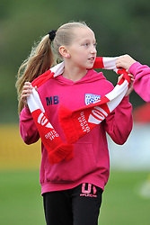 Player from Whitchurch JFC supporting Bristol City Women at Stoke Gifford Stadium - Mandatory by-line: Paul Knight/JMP - 24/09/2016 - FOOTBALL - Stoke Gifford Stadium - Bristol, England - Bristol City Women v Durham Ladies - FA Women's Super League 2