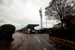 A general view of The Crown Oil Arena (Spotland), home to Rochdale - Mandatory by-line: Robbie Stephenson/JMP - 31/10/2020 - FOOTBALL - Crown Oil Arena - Rochdale, England - Rochdale v Bristol Rovers - Sky Bet League One
