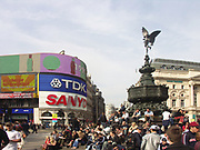 A51PCF Piccadilly  Circus Eros statue London England