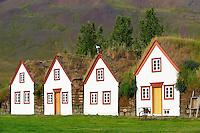 Islande, ferme traditionnelle de Laufas, region de Akureyri // Iceland, traditional farm of Laufas around Akureyri