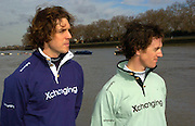 PUTNEY, LONDON, ENGLAND, 06.03.2006, 2006 Varsity Boat Race presidents, left Oxford's Canadian, Barney Williams and right Cambridge's Australian Tom Edwards, pose during the 2006 Presidents Challenge and Boat Race Crew announcement at the Winchester Club, Putney LONDON hel on the 6th March 2006.   © Peter Spurrier/Intersport-images.com.[Mandatory Credit Peter Spurrier/ Intersport Images] Varsity:Boat Race