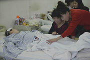 SHENYANG, CHINA - OCTOBER 22:  China Out - Finland Out<br /> <br /> Boy\'s Hand Cut Off By Mother's Boyfriend<br /> <br /> 10-year-old boy Xiao Jun receives treatments at a hospital on October 22, 2013 in Shenyang, Liaoning Province of China. Xiao Jun's right hand was cut off by his mother\'s 30-year-old boyfriend Wang, as Wang and Xiao Jun's mother have economic disputes.<br /> ©Exclusivepix