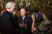 PHILIP TREACY; JOHN RITBLAT; JILL RITBLAT, Fashion and Gardens, The Garden Museum, Lambeth Palace Rd. SE!. 6 February 2014.
