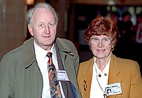 Tony Megahy, MEP, Labour Party, UK, with his wife, Jean Megahy, annual conference, September 1994. 19940929TM1<br /> <br /> Copyright Image from Victor Patterson, 54 Dorchester Park, <br /> Belfast, UK, BT9 6RJ<br /> <br /> t1: +44 28 9066 1296 (from Rep of Ireland 048 9066 1296)<br /> t2: +44 28 9002 2446 (from Rep of Ireland 048 9002 2446)<br /> m: +44 7802 353836<br /> <br /> e: victorpatterson@me.com<br /> www.victorpatterson.com<br /> <br /> Please see my Terms and Conditions of Use at www.victorpatterson.com. It is IMPORTANT that you familiarise yourself with them.<br /> <br /> Images used on the Internet must be visibly watermarked i.e. © Victor Patterson<br /> within the body of the image and copyright metadata must not be deleted. Images <br /> used on the Internet have a size restriction of 4kbs and will be chargeable at current<br />  NUJ rates unless agreed otherwise.<br /> <br /> This image is only available for the use of the download recipient i.e. television station, newspaper, magazine, book publisher, etc, and must not be passed on to any third <br /> party. It is also downloaded on condition that each and every usage is notified within 7 days to victorpatterson@me.com<br /> <br /> The right of Victor Patterson to be identified as the author is asserted in accordance with The Copyright Designs And Patents Act (1988). All moral rights are asserted.
