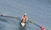 "Rio de Janeiro. BRAZIL.   USA W2X, <br /> BOW, Meghan O'LEARY And Ellen TOMEK,  2016 Olympic Rowing Regatta. Lagoa Stadium,<br /> Copacabana,  ""Olympic Summer Games""<br /> Rodrigo de Freitas Lagoon, Lagoa. Saturday  06/08/2016 <br /> <br /> [Mandatory Credit; Peter SPURRIER/Intersport Images]"
