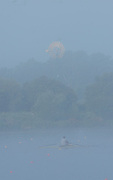 Hamburg. GERMANY.   Misty Foggy,  atmospheric, conditions, Friday, Morning training at the 2014 FISA Junior World rowing. Championships.  07:57:18  Friday  08/08/2014  [Mandatory Credit; Peter Spurrier/Intersport-images] © Peter SPURRIER, Atmospheric, Rowing