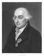 Joseph Louis Lagrange (1736-1813) French: analytical mathematics. From 'The Gallery of Portraits', Charles Knight, London, 1833