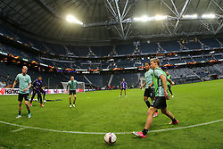 May 23, 2017 - Stockholm, Sweden - Ajax team train during a training session at The Friends Arena ahead of the UEFA Europa League Final between Ajax and Manchester United at Friends Arena on May 23, 2017 in Stockholm, Sweden. (Credit Image: © Foto Olimpik/NurPhoto via ZUMA Press)